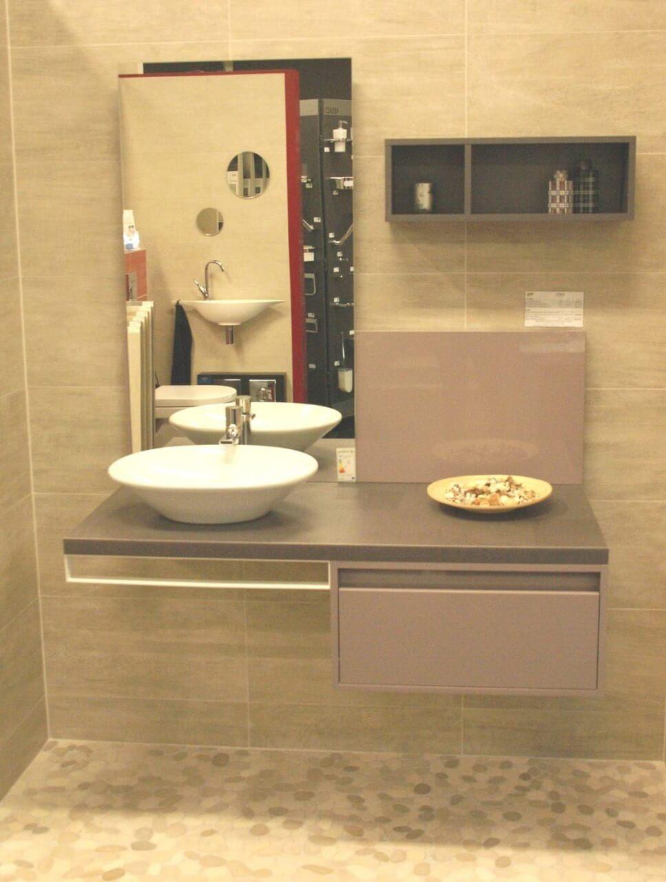 meuble de bains mix city laqu gris titane carrelage denni. Black Bedroom Furniture Sets. Home Design Ideas