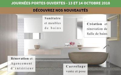 Journées portes ouvertes 13 et 14 Octobre de 9h à 18h non stop